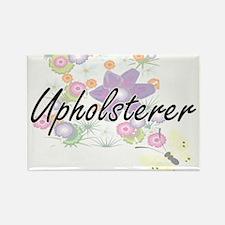 Upholsterer Artistic Job Design with Flowe Magnets