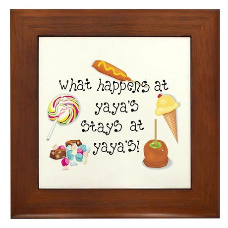 What Happens at YaYa's... Framed Tile