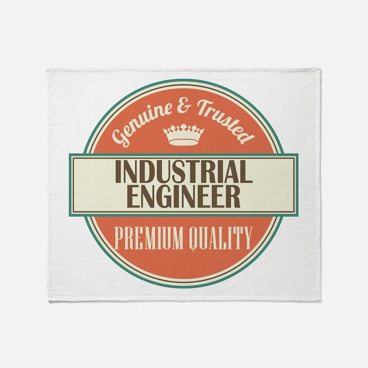 industrial engineer vintage logo Throw Blanket