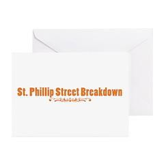 St. Phillip Street Breakdown Greeting Cards (Pk of
