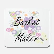 Basket Maker Artistic Job Design with Fl Mousepad