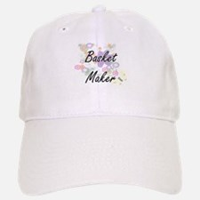 Basket Maker Artistic Job Design with Flowers Baseball Baseball Cap