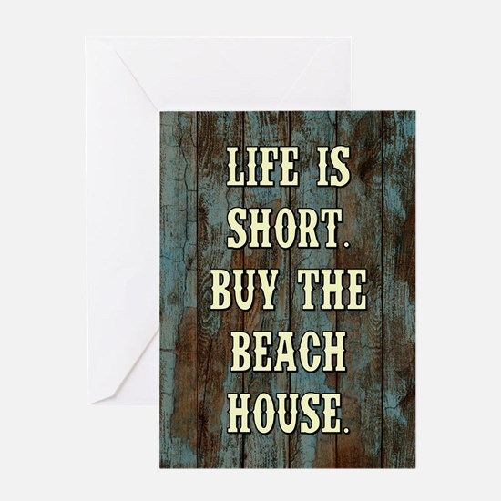 LIFE IS SHORT Greeting Cards
