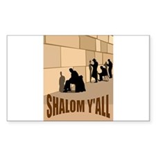 SHALOM Y'ALL AT THE WESTERN W Sticker (Rectangular