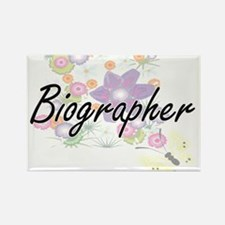 Biographer Artistic Job Design with Flower Magnets