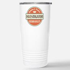 investigator vintage lo Stainless Steel Travel Mug