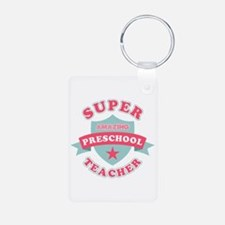 Super Preschool Teacher Aluminum Photo Keychain