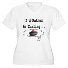 I'd Rather Be Curling.. T-Shirt
