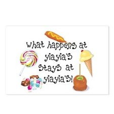 What Happens at YiaYia's... Postcards (Package of