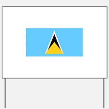 Flag of Saint Lucia Yard Sign
