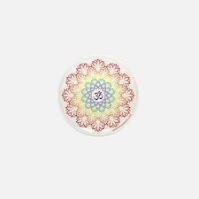 Namaste Lotus Mini Button