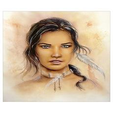 Native American Woman Wall Art Poster