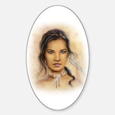 Native American Woman Decal