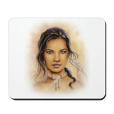Native American Woman Mousepad