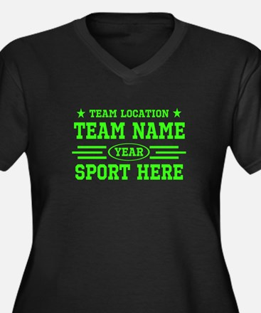 Personalized Your Team Your Text Plus Size T-Shirt
