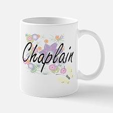 Chaplain Artistic Job Design with Flowers Mugs