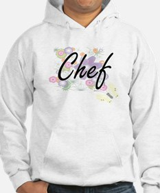 Chef Artistic Job Design with Fl Hoodie