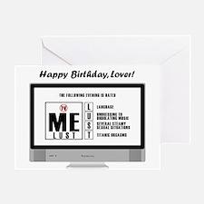 Bawdy Birthday Card Greeting Cards
