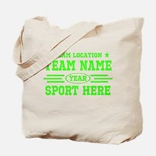 Personalized Your Team Your Text Tote Bag