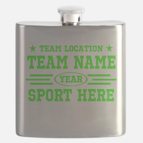 Personalized Your Team Your Text Flask