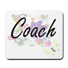 Coach Artistic Job Design with Flowers Mousepad
