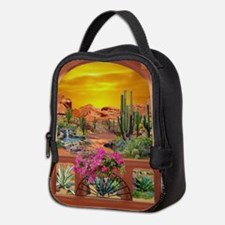 Sonoran Desert Landscape Neoprene Lunch Bag