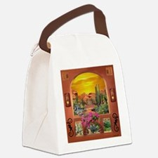 Sonoran Desert Landscape Canvas Lunch Bag