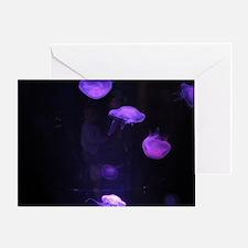 Unique Purple jellyfish Greeting Card