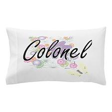 Colonel Artistic Job Design with Flowe Pillow Case