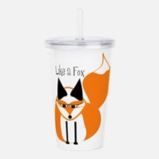 like a fox Acrylic Double-wall Tumbler