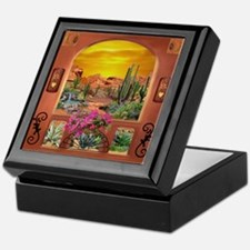 Sonoran Desert Landscape Keepsake Box