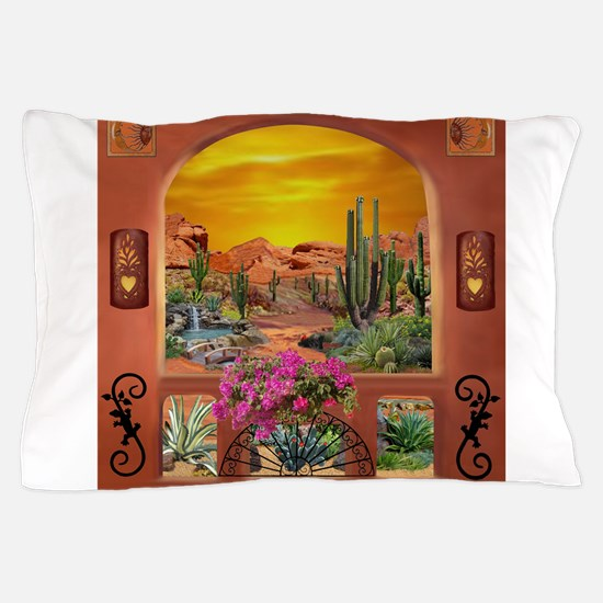 Sonoran Desert Landscape Pillow Case