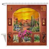 Adobe Shower Curtains