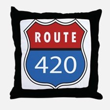 Route 420 Interstate Sign Throw Pillow