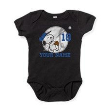 Snoopy Baseball - Personalized Baby Bodysuit