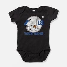 Snoopy Baseball - Personalized Baby Bodysuit