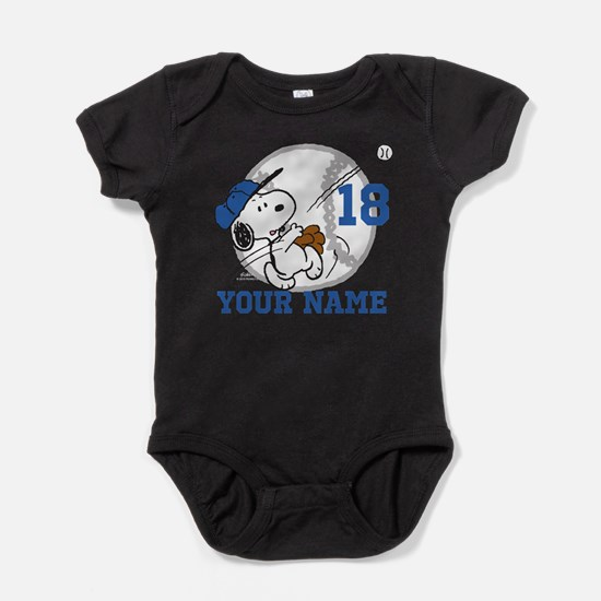 Snoopy baby clothes cafepress snoopy baseball personalized baby bodysuit negle Images