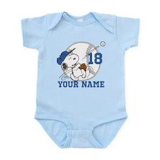 Snoopy Baseball - Personalized Infant Bodysuit