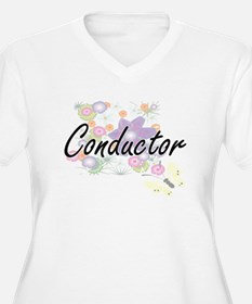 Conductor Artistic Job Design wi Plus Size T-Shirt