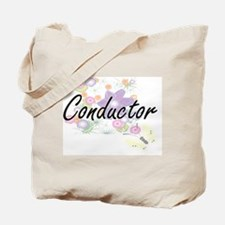 Conductor Artistic Job Design with Flower Tote Bag