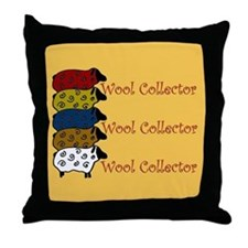 Wool Collector Throw Pillow- cute sheep design