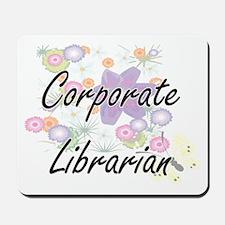 Corporate Librarian Artistic Job Design Mousepad