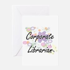 Corporate Librarian Artistic Job De Greeting Cards