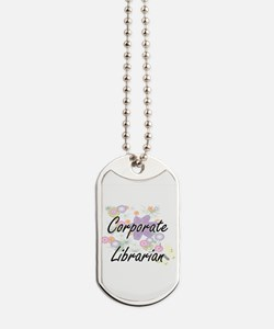 Corporate Librarian Artistic Job Design w Dog Tags