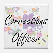 Corrections Officer Artistic Job Desi Tile Coaster