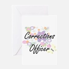 Corrections Officer Artistic Job De Greeting Cards