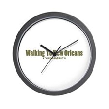 Walking To New Orleans Wall Clock