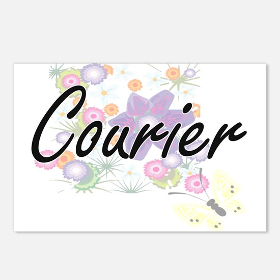Courier Artistic Job Desi Postcards (Package of 8)