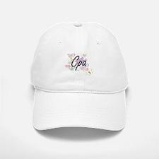Cpa Artistic Job Design with Flowers Baseball Baseball Cap