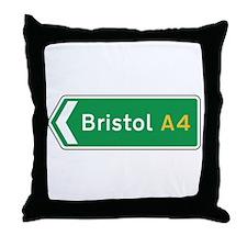 Bristol Roadmarker, UK Throw Pillow